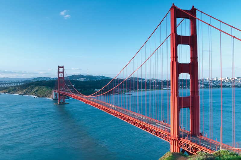The Golden Gate Bridge in San Francisco
