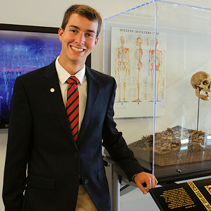 A photograph of forensic science major alumnus, Trevor McDewell.